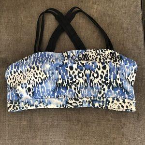 Lorna Jane Sports Bra - M, blue leopard print